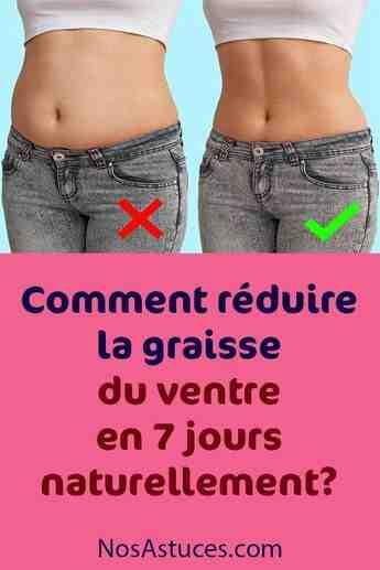 Comment perdre la graisse du ventre pour une femme?