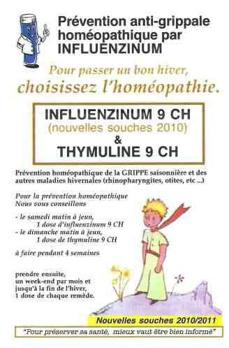 Comment prendre le vaccin influenzinum ?